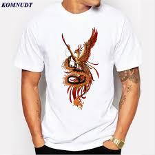 T Shirt Design Phoenix 2018 Fashion Hot Sale Cool White Phoenix Design T Shirt 3d