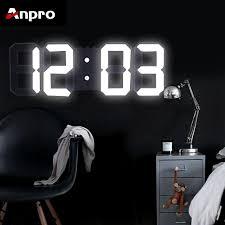 home diy NEW <b>3D LED Digital</b> Wall Clock <b>Electronic</b> Alarm Display ...