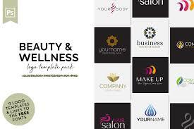 Example Of Company Logo Designs Beauty Wellness Logo Design Set