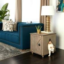 furniture to hide litter box. Discreet Litter Box Hidden Furniture Weathered Kitty And Side Table . To Hide