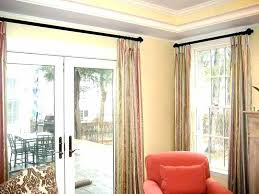 curtains over sliding glass door hanging glass doors wonderful curtains over french curtains for sliding glass