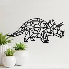 geometric triceratops wall art large