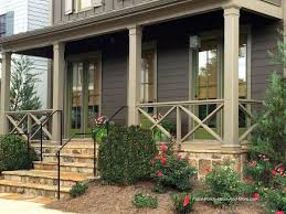 Exterior Wooden Porch Railing Design Steel Railing Design Front Porch  Materials for Front Porch Railing