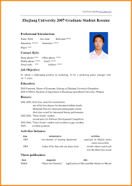 Cv Template University Student - Kleo.beachfix.co