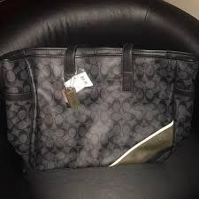 Large Coach Monogram Tote Bag