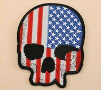 T shirt punisher skull green apple l: Large American Flag Punisher Skull Green Line Embroidered Iron On Sew Patch Hlpsocialsquare Com
