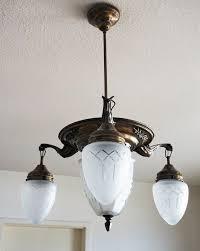 Jugendstil Deckenlampe Um 1920 Antik Kronleuchter Lampe Art