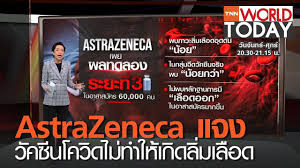 AstraZeneca แจงวัคซีนโควิดไม่ทำให้เกิดลิ่มเลือด l TNN World Today - YouTube