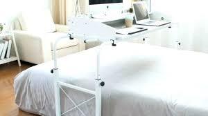 Over bed desk Adjustable Over Bed Desk Rolling Home Adjustable Computer Estellemco Bed Computer Desk Table Sofa Fresh On Furniture With Regard To