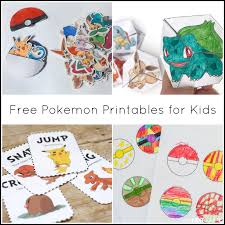 free pokemon printables for kids from and next es l