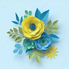 Daisy Paper Flower 3d Render Paper Flowers Botanical Wallpaper Floral Bouquet