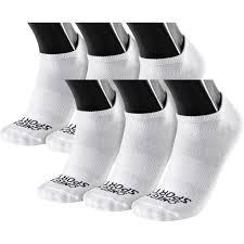 Os Performance <b>Unisex</b> Socks - <b>Flat Knit</b> No- Show - Large - White ...