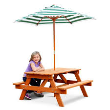 Kids Picnic Table From Wooden Spooljust Add Umbrella  Outside Childrens Outdoor Furniture With Umbrella