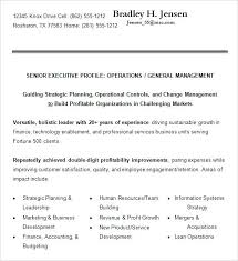 senior executive resume sample executive resume executive resume samples sample resume