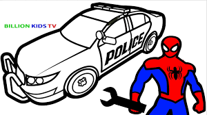27 lion coloring pages for adults collections. Spiderman Repair New Police Cars Coloring Pages For Kids Coloring Book Kids Fun Art Video Dailymotion