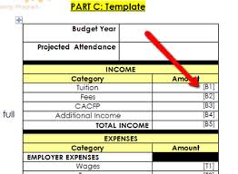 Child Care Budget Template Line Item Budget Business Practices Tutorial