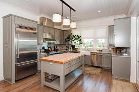 small kitchen island butcher block. Freestanding Gray Kitchen Island With Butcher Block Top Cottage Regarding Remodel 12 Small
