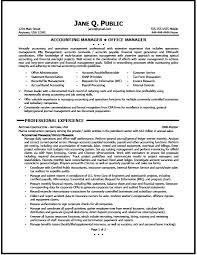 Accounting Manager Resume Sample Free Resume Templates 2018
