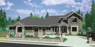 2d corner lot house plans with side load garage