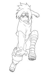 Sasuke Fighting Of Naruto Coloring Pages Cartoon Coloring Pages Of
