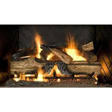 country split oak 24 in vented natural gas fireplace logs