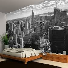New York Bedroom Wallpaper New York City Skyline Blackwhite Photo Wallpaper Wall Mural