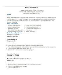 Professional Biomedical Engineering Resume