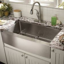 stainless apron sink.  Apron New ListingZuhne Farmhouse Apron Single Bowl 16 Gauge Stainless Steel  Kitchen Sink For O