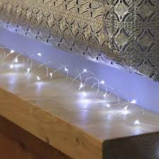 outdoor fairy lighting. Outdoor Battery Fairy Lights, Silver Wire Micro, 50 White LEDs Lighting N