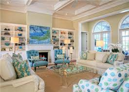 coastal living lighting. Coastal Living Room By Jacquelyn Armour (not Fond Of Polka Dotted Fabric But Love The Lighting