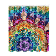 colorful fabric shower curtains. Fabric Shower Curtain 3D Decor Collection Nautical Colorful Seascape With Hooks And Picture Print Bathroom Curtains I