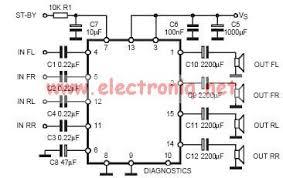 tda7377 class ab car radio amplifier circuit design circuit diagram tda7377 class ab car radio amplifier circuit design electronic project