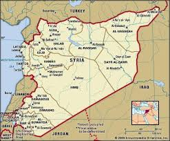 syrian desert physical map.  Syrian Syria Political Map Boundaries Cities Includes Locator Throughout Syrian Desert Physical Map A