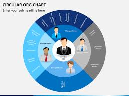 org charts templates circular org chart powerpoint template sketchbubble