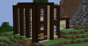 miraculous wooden modern house wooden modern house minecraft project