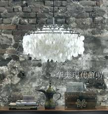 capiz hanging lamp hanging lamp modern chandeliers white shell lampshade pendant lamps living room hanging lamp capiz hanging lamp