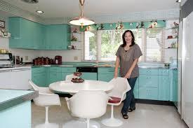 retro metal kitchen cabinets design plan