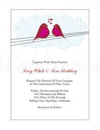 Printable Lovebirds Valentines Day Wedding Invitation Template