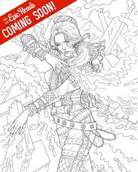 sle from the red queen coloring book