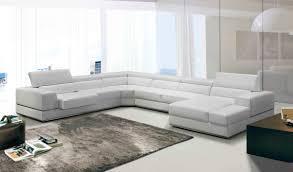 modern leather sectional sofa. Plain Modern Divani Casa Pella Modern White Italian Leather Sectional Sofa Intended L