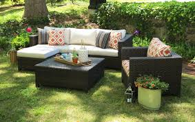 AE Outdoor Biscayne 5 Piece Deep Seating Group with Sunbrella