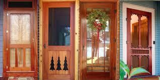 wooden front door with storm door. Brilliant Door On This Page Traditional Screen U0026 Storm Doors  Victorian  Craftsman Louver Rustic  And Wooden Front Door With O