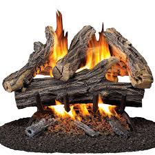 procom 18 in vented natural gas fireplace log set