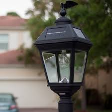 Gama Sonic Imperial B Solar Lamp 3 Inch Pole Mount With Gs Solar Led