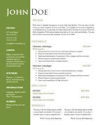 Free Resume Templates Word Document Resume Corner