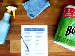 cleaning supplies list free printable cleaning supplies list