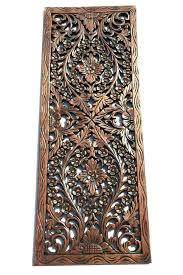 carved wood wall art s en wooden panels decorative plaque indian uk