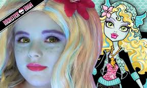 lagoona blue monster high doll costume makeup tutorial for you
