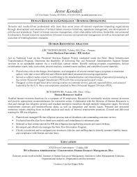 Resume Human Resources Generalist Leadership Resume Example Human