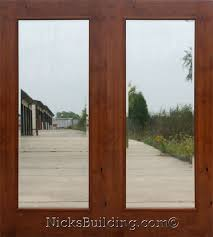 knotty alder patio doors or knotty alder french doors sw250 with insulated clear beveled glass